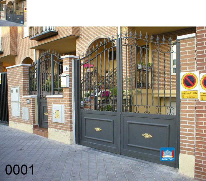 Puertas de forja cerramientos puertas de forja en madrid - Puertas para cerramientos ...